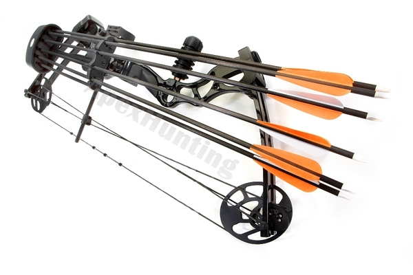 6x Archery Arrow Quiver Black Accessory for Compound Bow Hunting Shooting New