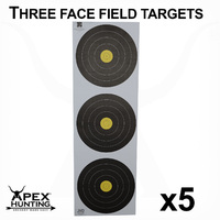 WORLD ARCHERY FIELD TARGET - 3 CENTRE-5 PACK