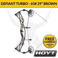 Hoyt Defiant Turbo 65lbs RH - 29 Inch Cam - Matte Brown