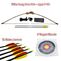 Kids Gift Pack - 15 lbs Camo Youth Longbow Set