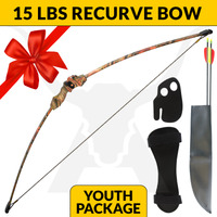 15LBS YOUTH LONGBOW SET - CAMO