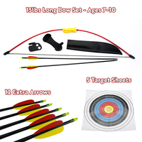 Kids Gift Pack - 15 lbs Red LongBow