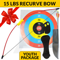 15LBS KIDS LONGBOW SET - RED