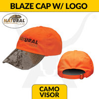 Blaze Baseball Hat - Camo Visor - Natural Gear