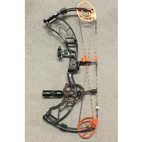 "DELTA SIX - 70lbs 28"" Draw - Stormy Hardwoods Gunmetal - Obsession Bows"