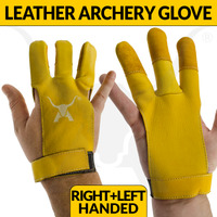 Premium 3 Finger Leather Archery Glove