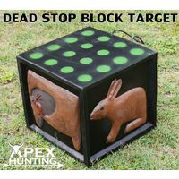 3D TARGET - DEAD STOP BLOCK - ANIMAL + DOT