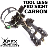 TOOL-LESS 5-PIN FIBRE OPTIC PRO BOW SIGHT - CARBON