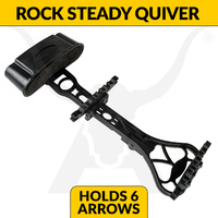 APEX ROCK STEADY 6 ARROW QUIVER - BLACK