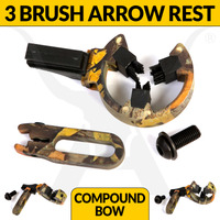 BRUSH ARROW REST - 3 BRUSH - FULL CONTAINMENT - CAMO