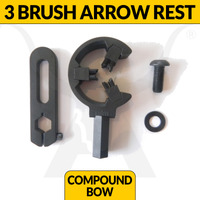 BRUSH ARROW REST - 3 BRUSH - FULL CONTAINMENT - BLACK