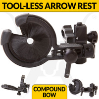 Brush Arrow Rest - Tool-less Micro Click Adjustment